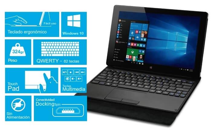 Nova Tablet 3GO 10.1 IPS GT10W3 Windows 10 amb Teclat