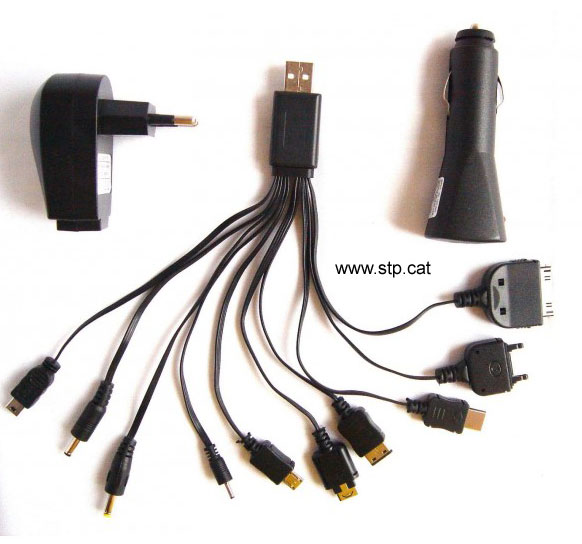MULTICARGADOR USB PARA CASA Y COCHE LL-CAB-CHARGER