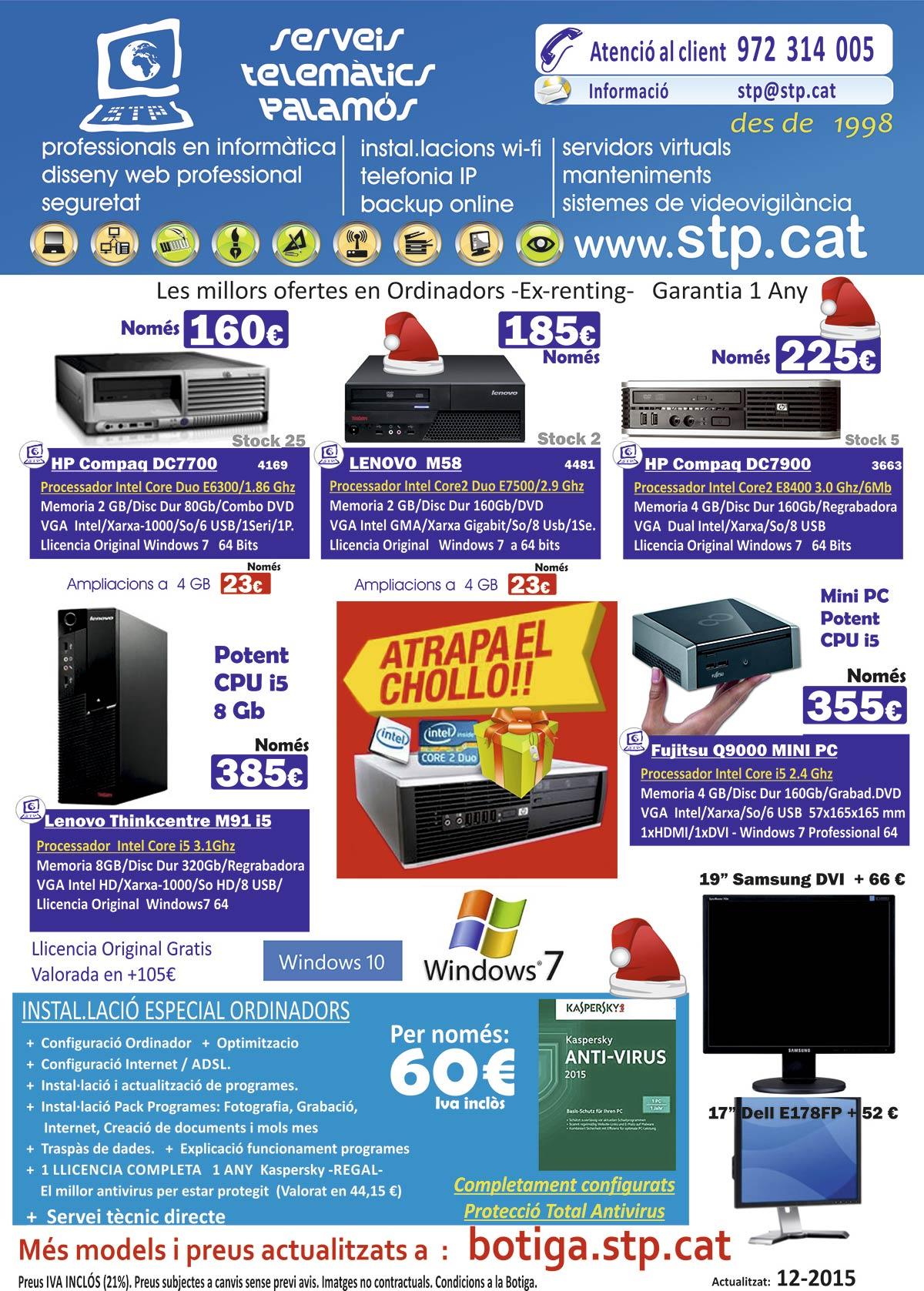 """ATRAPA EL """"CHOLLO""""  Ofertes Ordinadors, Nou models, Mini PC, Windows 10, des de 160€"""