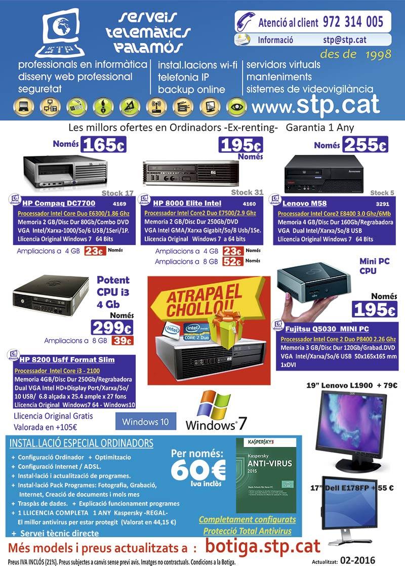 """ATRAPA EL """"CHOLLO""""  Ofertes Ordinadors, HP Compaq, Fujitsu Mini, Segona mà, Windows 10, des de 165€"""