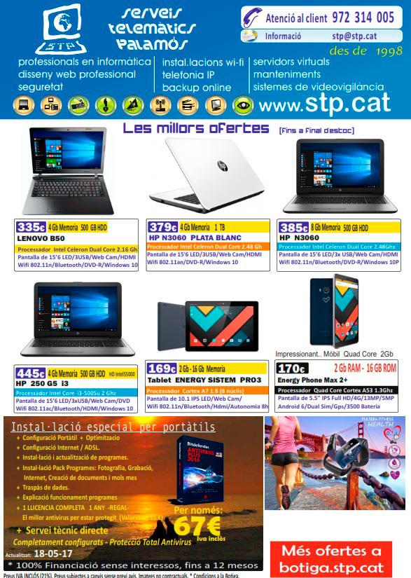 Super Ofertes en Mòbils, Tablets i Portatils. Lenovo, HP, Acer, Asus, Energy, Innojoo