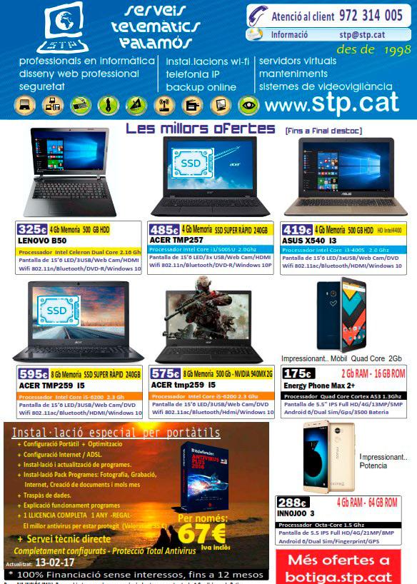 Super Ofertes en Mòbils i Portatils. Lenovo, Acer, Asus, Energy, Innojoo