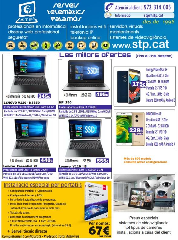 Super Ofertes en Portatils, Mòbils, Tablets. Lenovo, HP, Acer, Asus, Energy, Innojoo