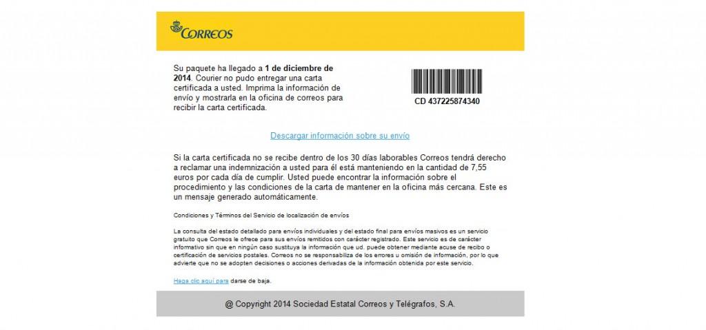 Noticia Virus CryptoLocker Correus. Falsa alarma