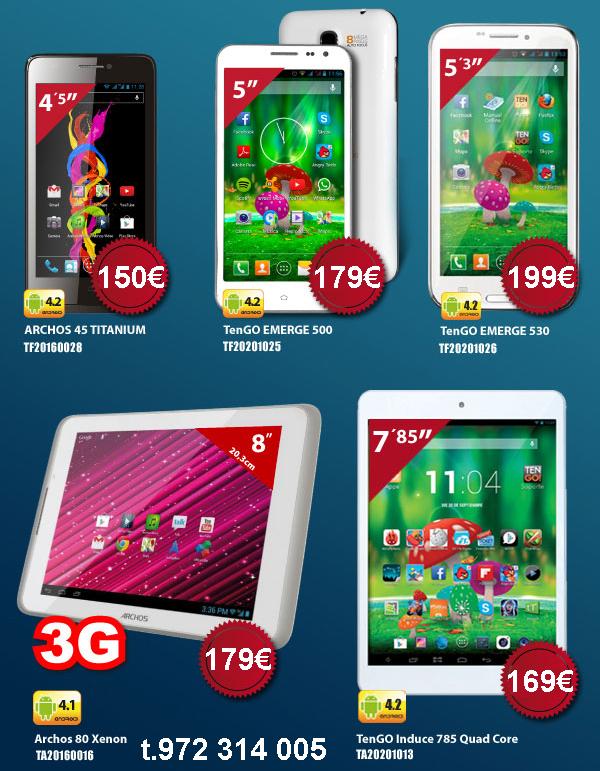 Super ofertas SmartPhones y Tablets Tengo, Archos