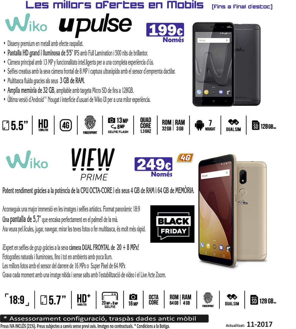 ofertas mobiles wiko 2 black friday