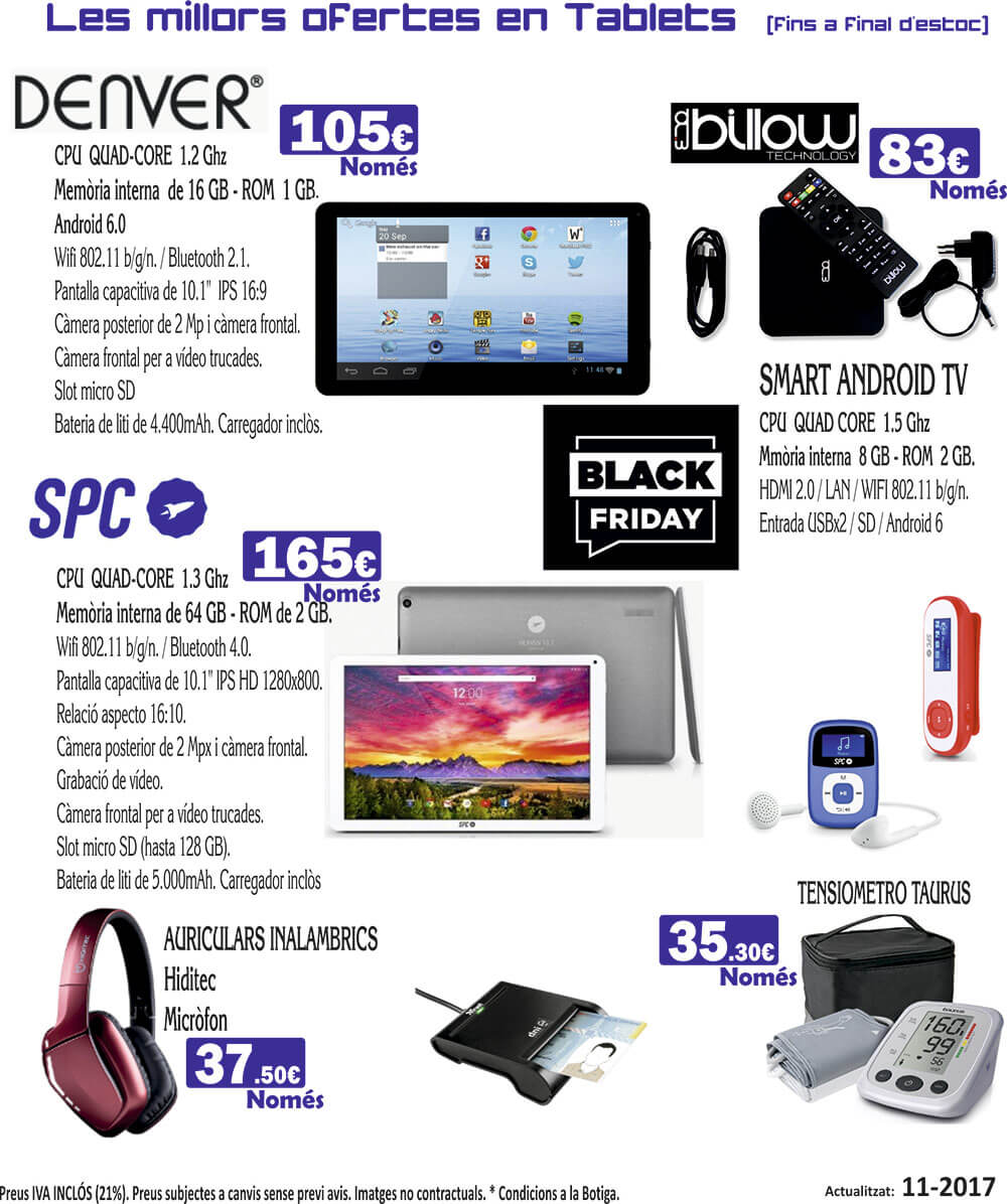 ofertas tablets 11 17 black friday