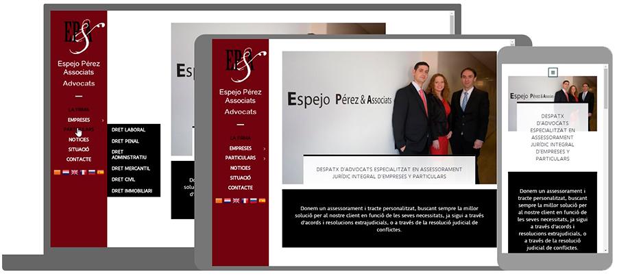 Nou Disseny Web Advocats Espejo Pérez. Seo Google