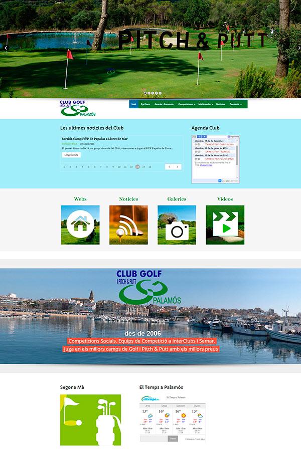 Nou Disseny Web. Club Golf i Pitch & Putt Palamós. Competicions Interclubs i Semar