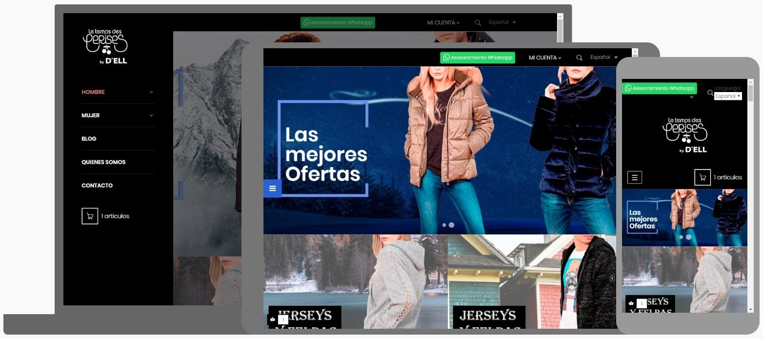Nou Disseny Web. Botiga Online. DellVic + Seo Google + Business