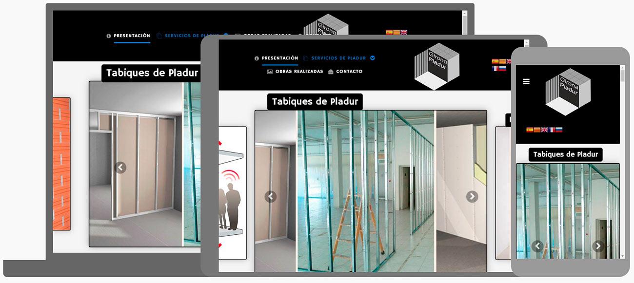 Nou Disseny Web Girona Pladur + Seo Google + Business