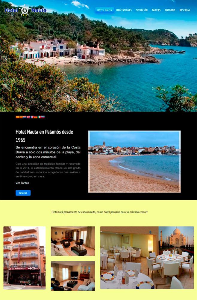 Nou Disseny Web Hotel Nauta Palamós + Seo Google + Business
