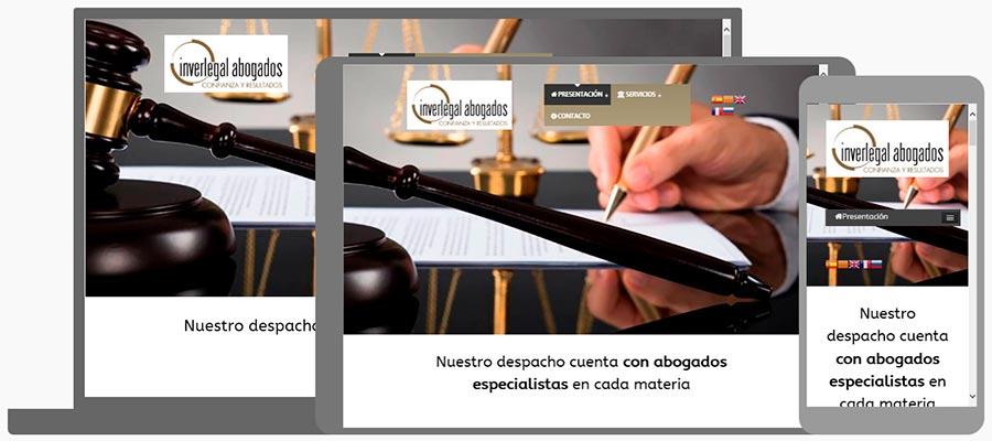 Nou Disseny Web Despatx Advocats Inverlegal + Seo Google