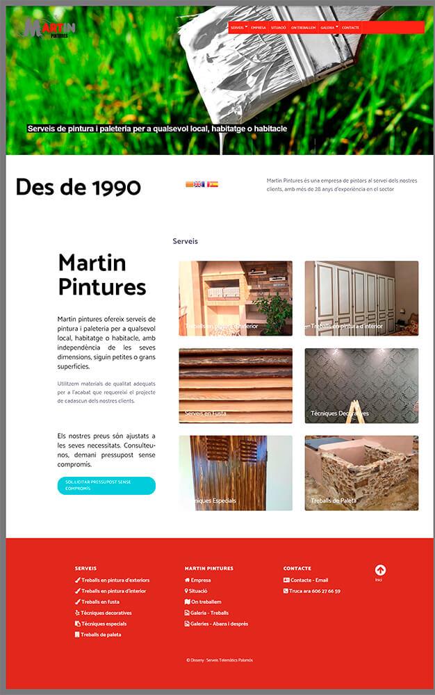 Nou Disseny Web Martin Pintors + Seo Google