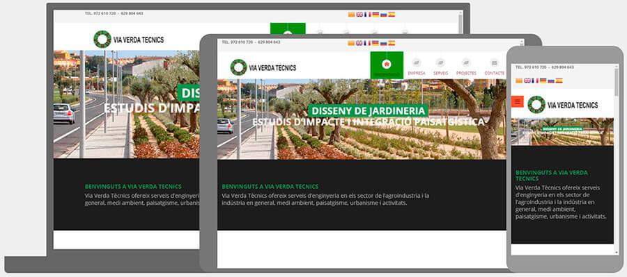 Nou Disseny Web Via Verda Tecnics. Enginyeria. Seo Google