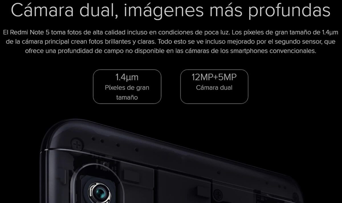 movil xiaomi redmi note 5 camara dual stp