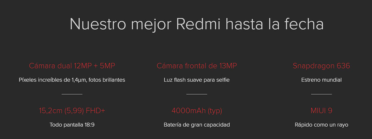 movil xiaomi redmi note 5 caracteristicas stp