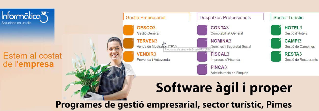Programes per a Gestió Empresarial, Pimes, Sector Turístic. Programari àgil i proper